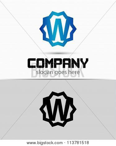Letter w Alphabetical Logo Design Concepts