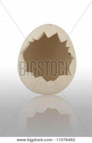 eggshell flowerpot