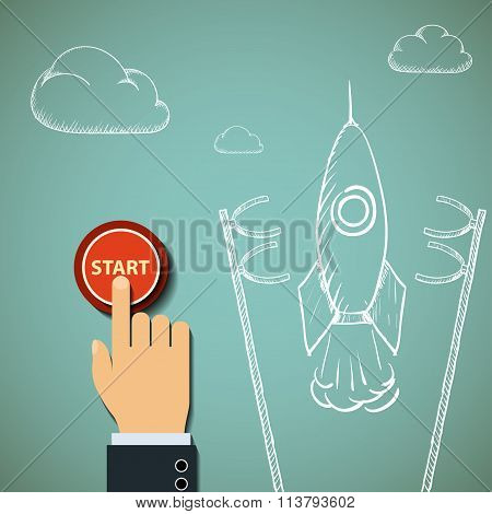 Rocket. Stock Illustration.
