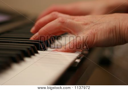 Baby Boomer Plays Electric Piano