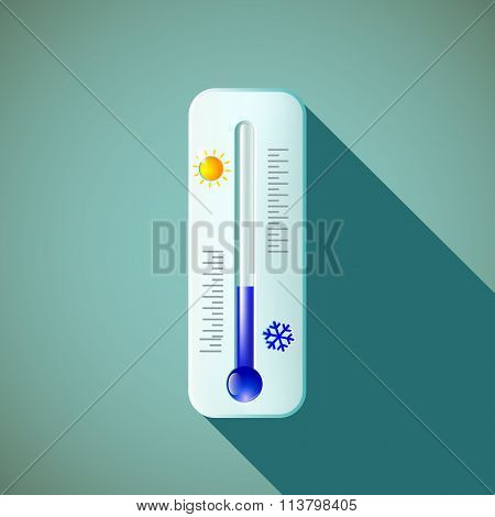 Thermometer. Stock Illustration.
