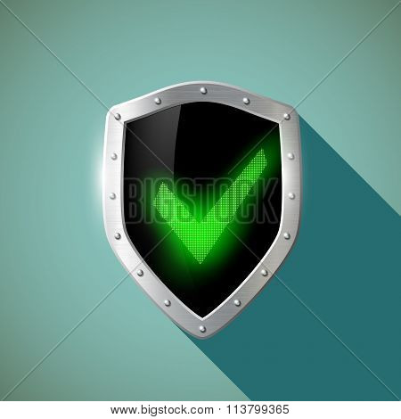 Green Mark. Stock Illustration.
