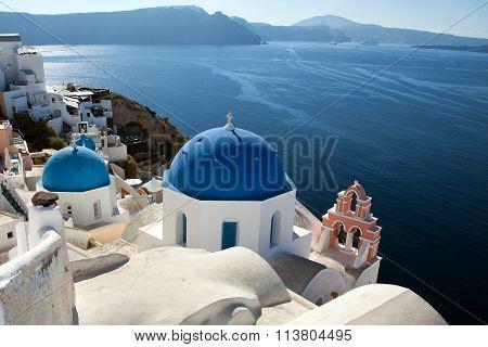 Church on Santorini island, Greece