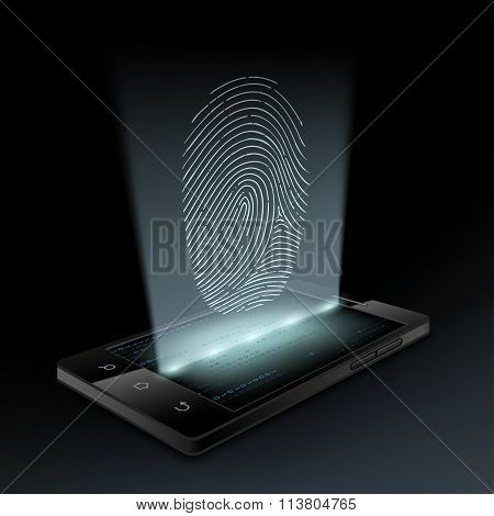 Icon Fingerprint On The Screen
