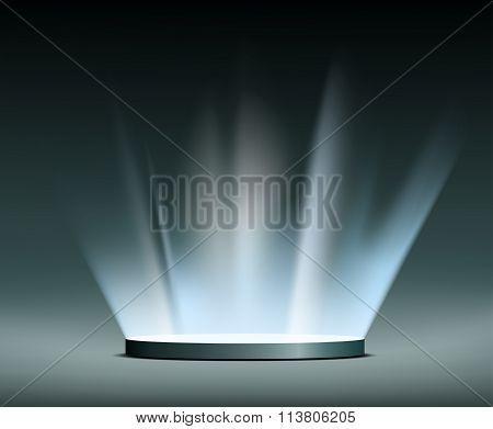 Rays Of Light. Hologram.
