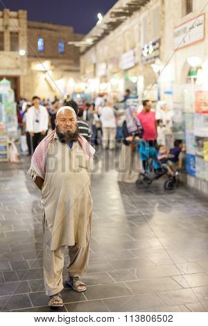 Man At The Souq Waqif, Doha