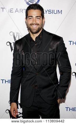 Jesse Metcalfe at the Art Of Elysium's 9th Annual Heaven Gala held at the 3LABS in Culver City, USA on January 9, 2016.