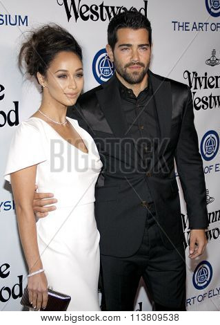 Jesse Metcalfe and Cara Santana at the Art Of Elysium's 9th Annual Heaven Gala held at the 3LABS in Culver City, USA on January 9, 2016.