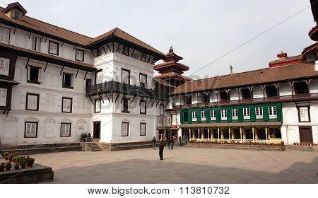 Old Royal Palace, Durbar Square In Kathmandu