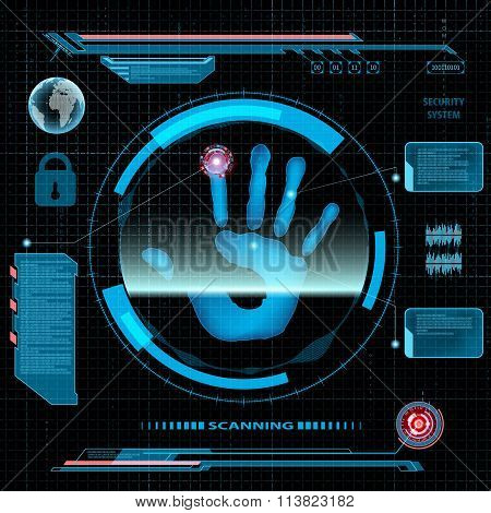 Scanning Human Hand.