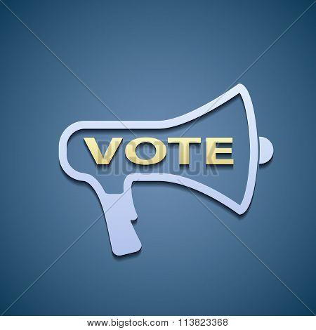 Icon Megaphone. Vote.