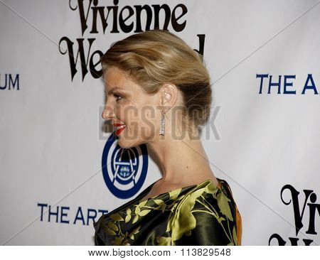 Angela Lindvall at the Art Of Elysium's 9th Annual Heaven Gala held at the 3LABS in Culver City, USA on January 9, 2016.