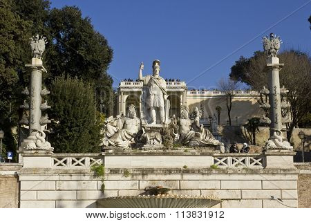 The Fountain Of Rome Between The Tiber And The Aniene
