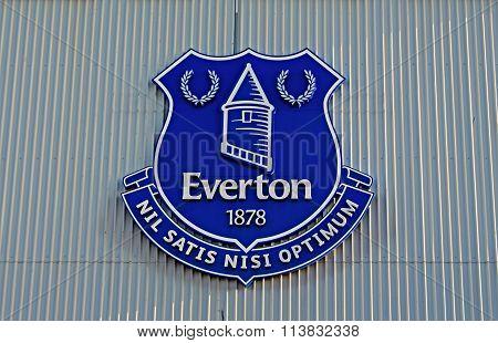 Liverpool Uk January 8Th 2016. Goodison Park Stadium, Home Of Everton Football Club. Liverpool Uk.