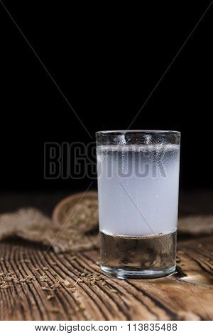 Ouzo In A Shot Glass