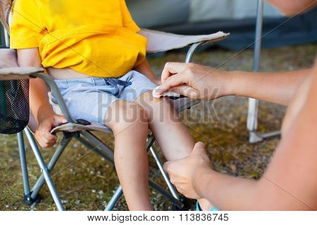 Treatment Battered Knee.