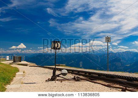 Cog Railway In Austrian Alps