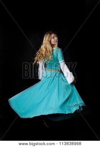 Dancing Medieval Girl
