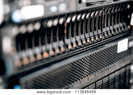 storage or file server. harddisk in server room