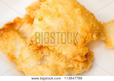 Fried Cod Closeup