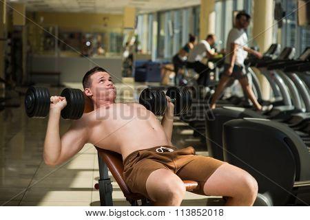 Sportsman is training.