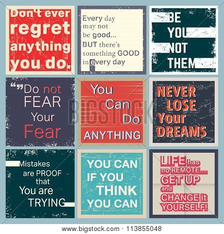 Quote Motivational Set
