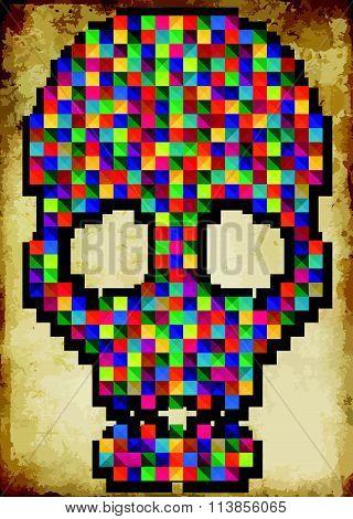 T-shirt Graphics/skull Vector/skull Illustration/evil Skull/concert Posters/rock And Roll Themed Gra
