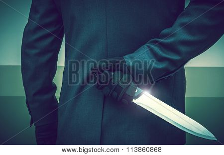 Murderer With Huge Knife