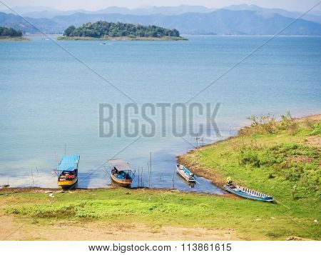 Natural scenic view of Kaeng Krachan national park lake