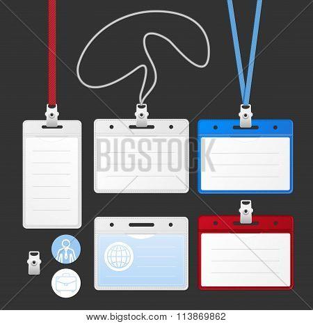 Id Card Set. Vector