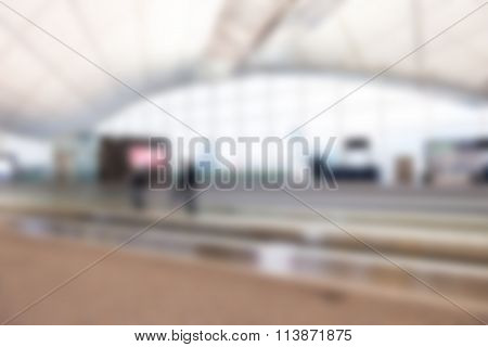 Hong Kong airport theme blur background