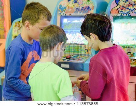 Kids At The Arcade