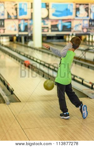 Kid Playing Bowling