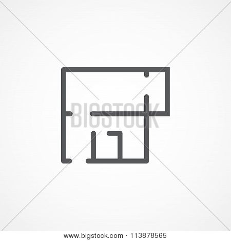 Apartment plan icon