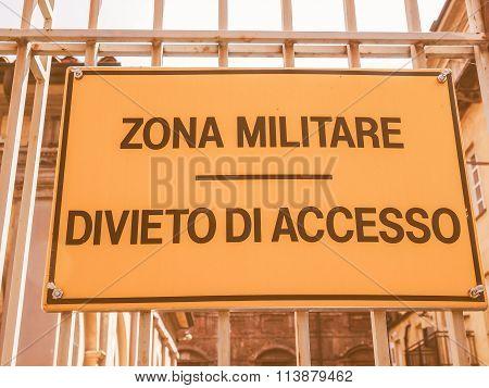 Militare Zone Vintage