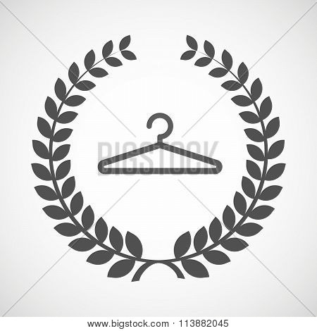 Isolated Laurel Wreath Icon With A Hanger