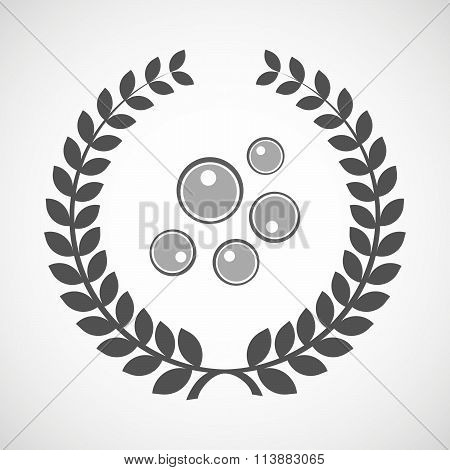 Isolated Laurel Wreath Icon With Oocytes