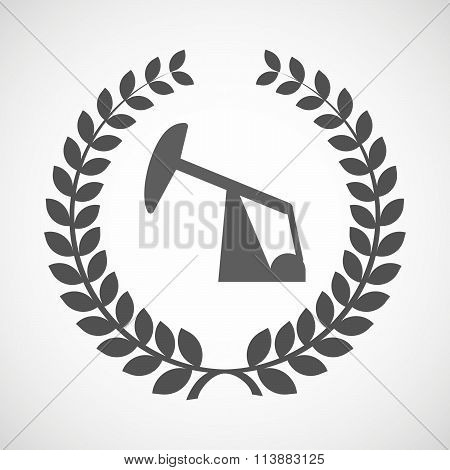Isolated Laurel Wreath Icon With A Horsehead Pump
