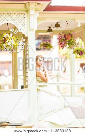 bride  in the gazebo