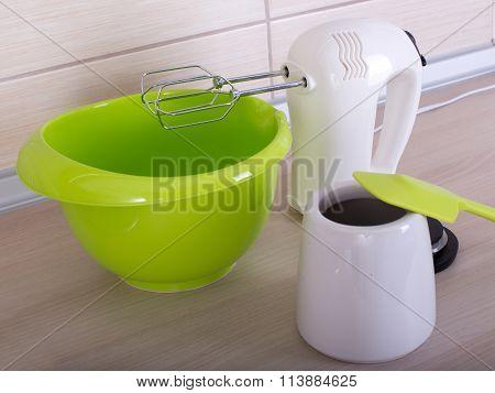 Kitchen Utensils On The Countertop