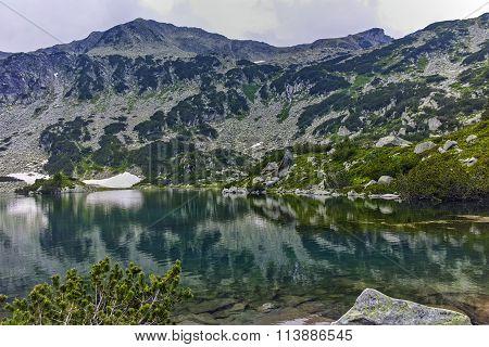 Amazing view of Banderishki Chukar Peak and The Fish Lake, Pirin Mountain