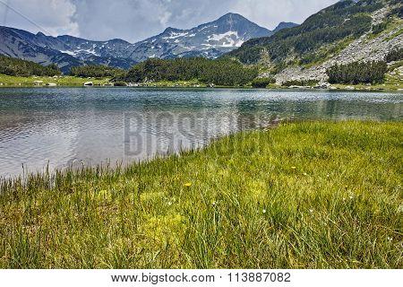 Amazing view of Banderishki Chukar Peak in Muratovo lake, Pirin Mountain