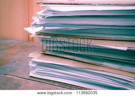 Files In Old Folder , Vintage Style