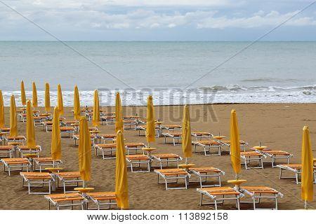 Bad Weather On Sea Beach