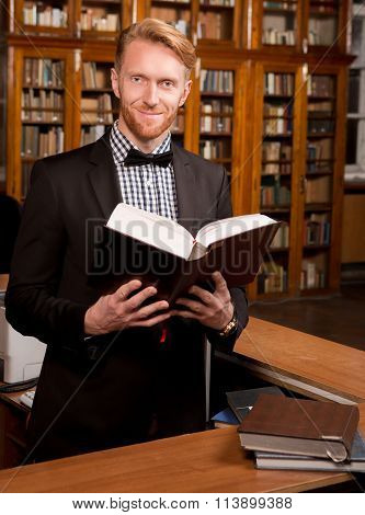 Portrait of real Librarian