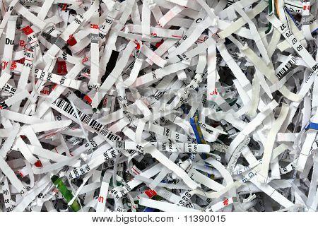 Shredded Document Background