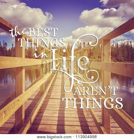 Captivating Instagram Of Bridge Over Water In Summer With Words