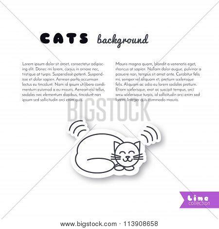 Purring cat  background