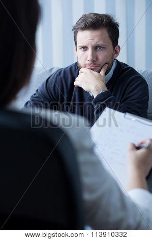 Psychiatrist Listening To His Patient