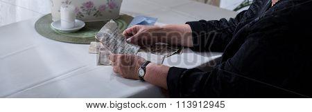 Widow With Memorabilia